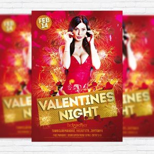 Valentines Exclusive Party Night - Free Club and Party Flyer PSD Template