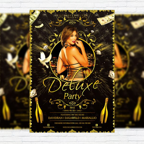 Deluxe Party - Premium Flyer Template + Facebook Cover