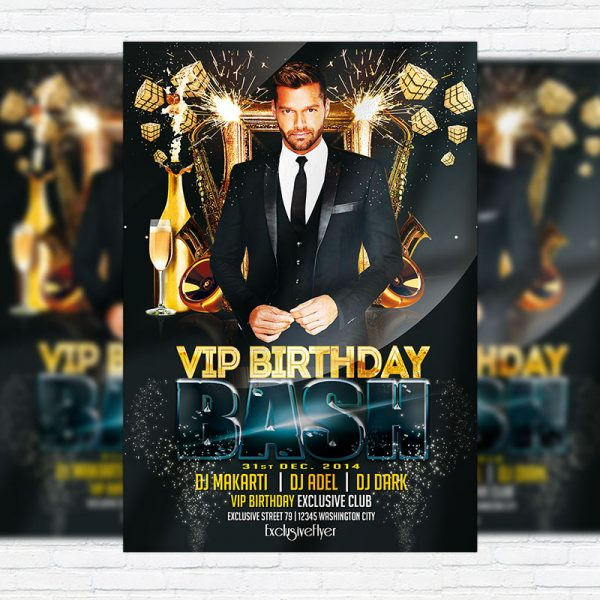 Vip Birthday Bash - Premium PSD Flyer Template