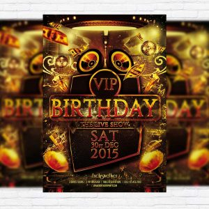Vip Birthday - Premium PSD Flyer Template