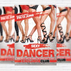 Sexy Dancer - Premium Flyer Template + Facebook Cover