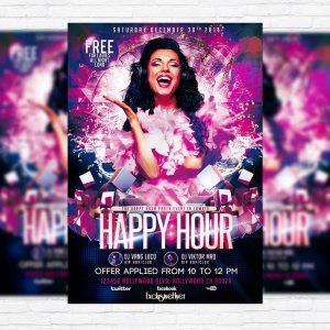 Happy Hour Party - Premium PSD Flyer Template