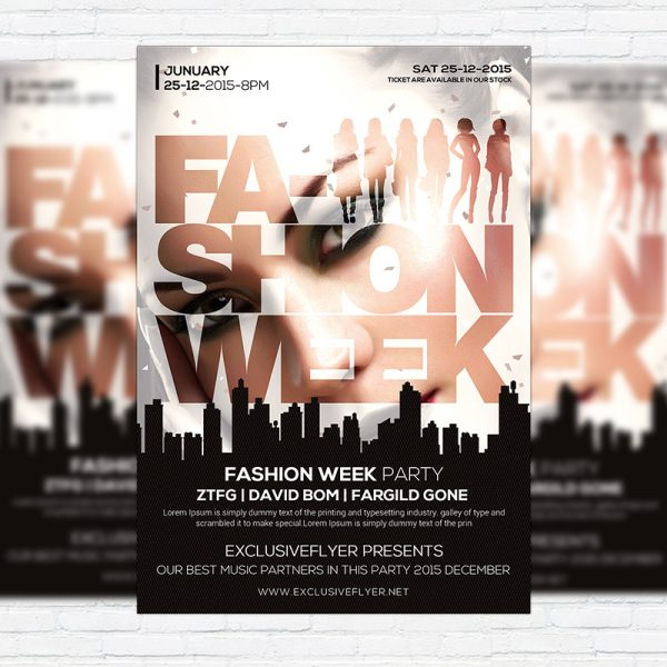 Fashion Week - Premium Flyer Template + Facebook Cover