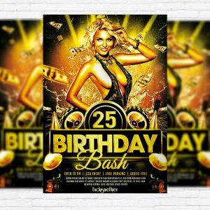 Birthday Bash - Premium PSD Flyer Template