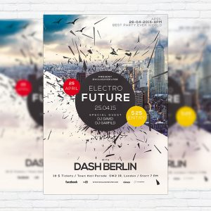Electro Future Vol.2 - Premium Flyer Template + Facebook Cover