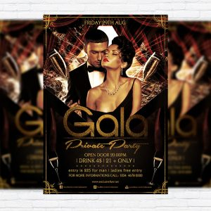Gala Private Party - Premium Flyer Template + Facebook Cover