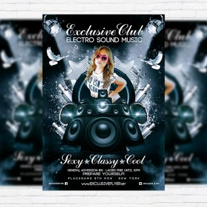 Exclusive Club - Premium Flyer Template + Facebook Cover