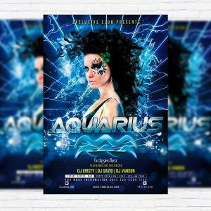 Aquarius - Premium PSD Flyer Template