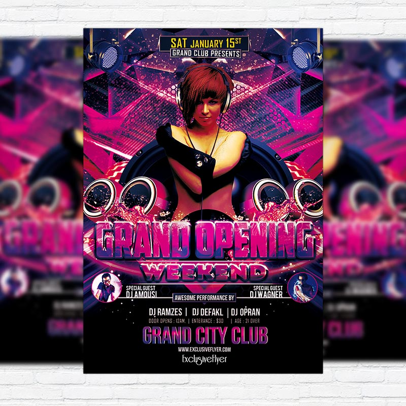 Grand Opening Weekend Premium PSD Flyer Template ExclsiveFlyer - Grand opening flyer template free