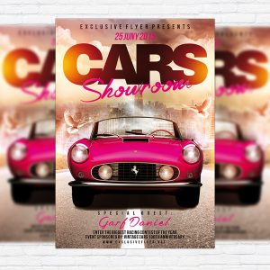 Car Showroom - Premium Flyer Template + Facebook Cover