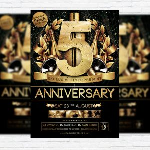 Anniversary - Premium Flyer Template + Facebook Cover