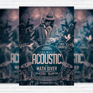 Live Acoustic Music - Premium PSD Flyer Template