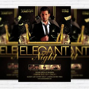 Elegant Night - Premium Flyer Template + Facebook Cover