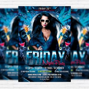 Friday Night Party - Premium PSD Flyer Template
