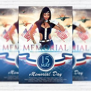Memorial - Premium Flyer Template + Facebook Cover
