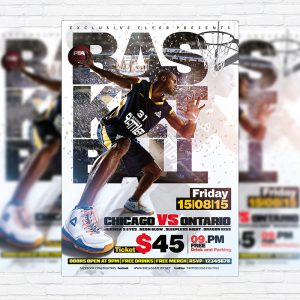 Basketball - Premium Flyer Template + Facebook Cover