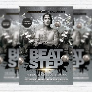 Beat Step - Premium Flyer Template + Facebook Cover