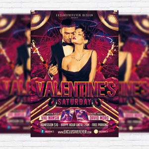 Valentine`s Saturday - Premium PSD Flyer Template
