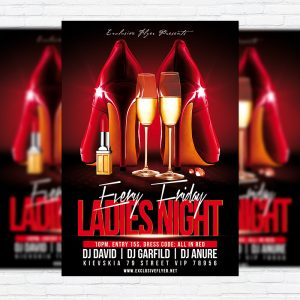 Ladies Night Vol.2 - Premium Flyer Template + Facebook Cover