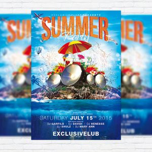 Summer Party Vol.4 - PSD Flyer Template + Facebook Cover