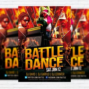 Battle Dance - Premium Flyer Template + Facebook Cover