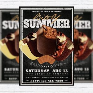 Bite Of Summer - Premium Flyer Template + Facebook Cover