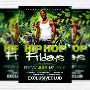 Hip Hop Fridays - Premium Flyer Template + Facebook Cover