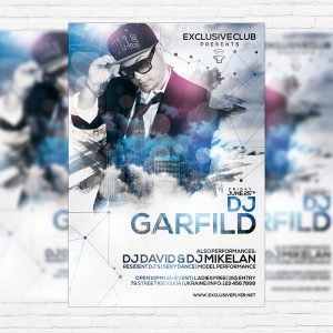 Special Guest DJ Garfild - Premium Flyer Template + Facebook Cover