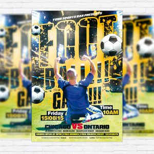 Football Game - Premium PSD Flyer Template