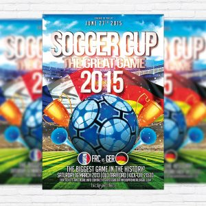 Soccer Cup - Premium PSD Flyer Template