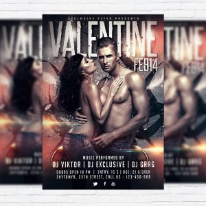 Valentine Party - Premium PSD Flyer Template