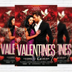 Valentines Party - Premium PSD Flyer Template