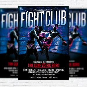 Fight Club - Premium Flyer Template + Facebook Cover