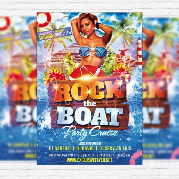 Rock The Boat - Premium Flyer Template + Facebook Cover