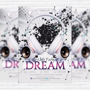 White Party Dream - Premium PSD Flyer Template