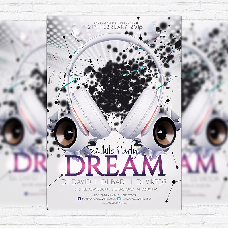 White Party Dream – Premium PSD Flyer Template | ExclsiveFlyer ...