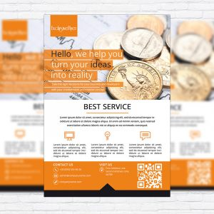 Corporate Best Service - Business Flyer Template