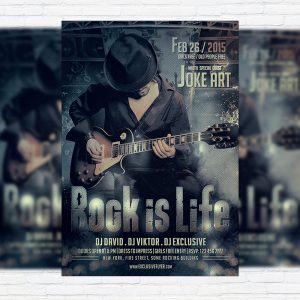 Rock Night Party - Premium PSD Flyer Template