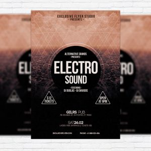Electro Sound - Premium PSD Flyer Template