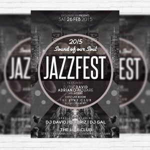 Jazz Fest Party - Premium PSD Flyer Template