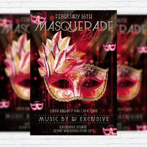 Masquerade Ball - Premium PSD Flyer Template