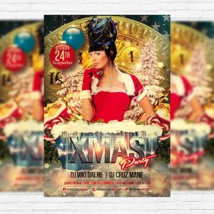Xmas Party Night - Premium PSD Flyer Template
