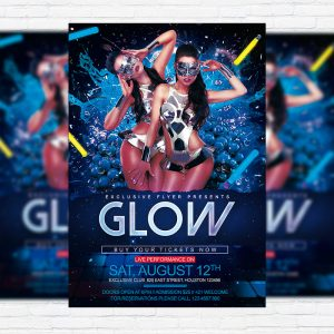 Glow - Premium Flyer Template + Facebook Cover