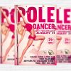 Pole Dancer Party - Free Club and Party Flyer PSD Template