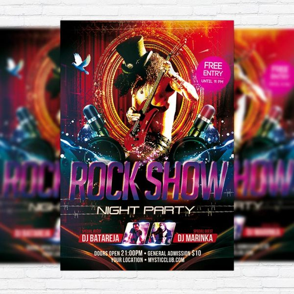 Rock Show Night Party - Premium PSD Flyer Template