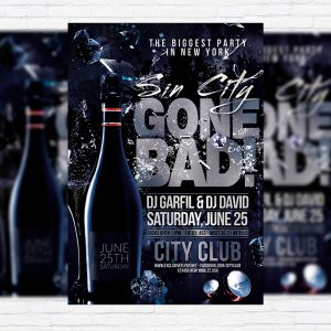 Gone Bad - Premium Flyer Template + Facebook Cover