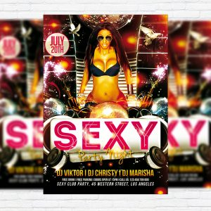 Sexy Party Night - Free Club and Party Flyer PSD Template