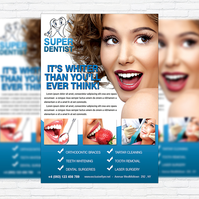 Dental Clinic – Free Club and Party Flyer PSD Template ...