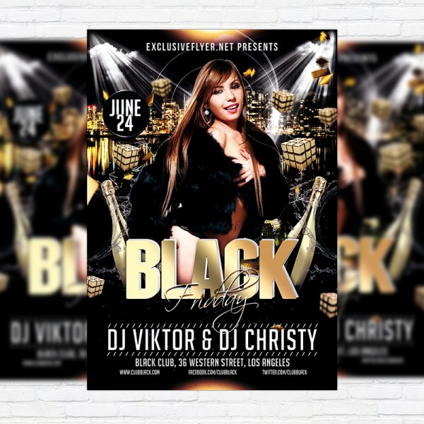 Black Friday - Free Club and Party Flyer PSD Template