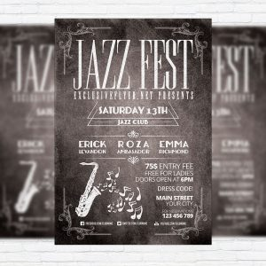 Jazz Fest - Premium PSD Flyer Template